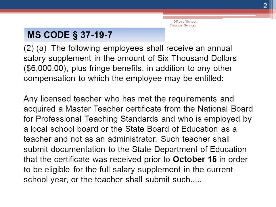 Master Teacher National Board Certification 1 Ms Code State Board