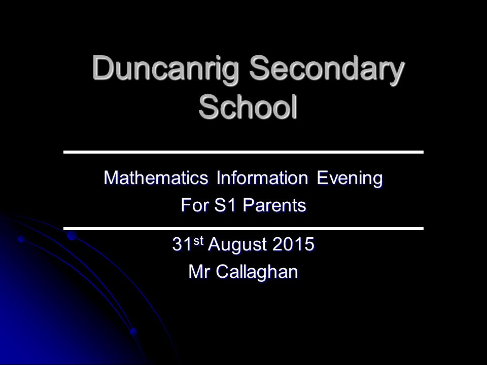duncanrig maths homework