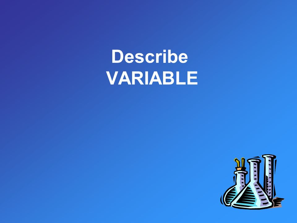 Describe VARIABLE
