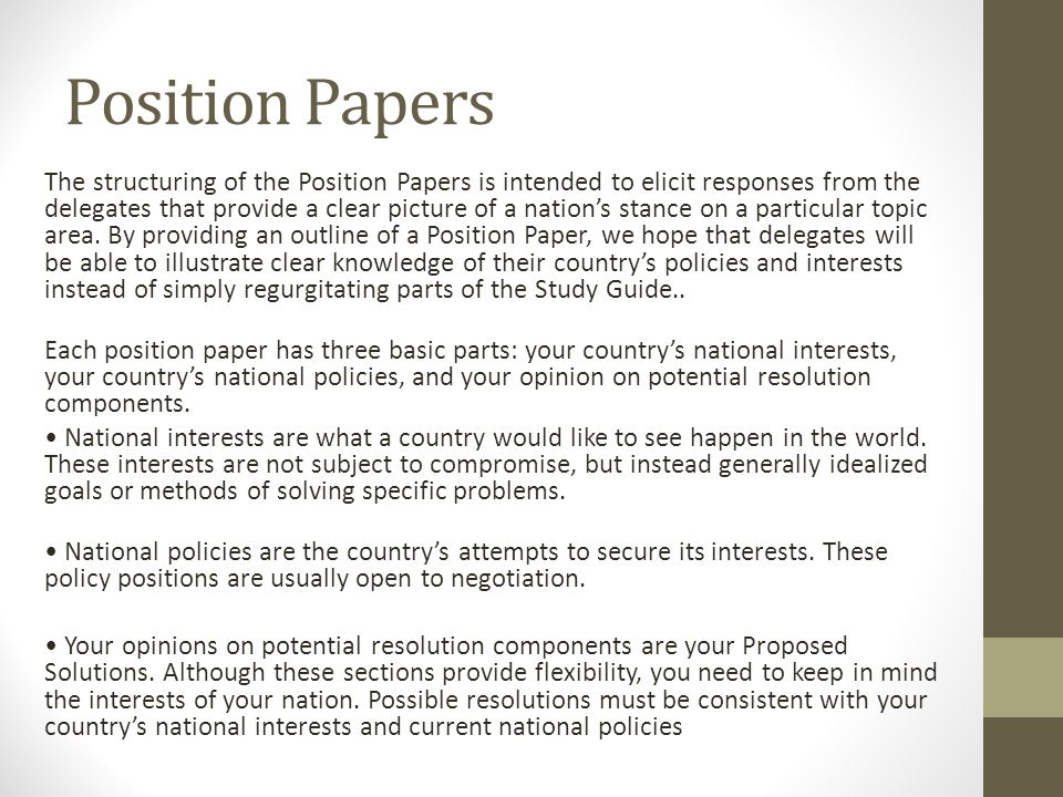 parts of a position paper
