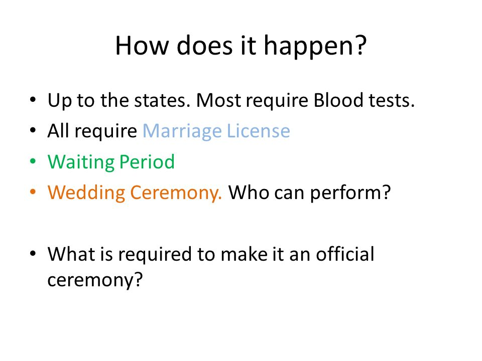 When did they stop requiring blood test for marriage license
