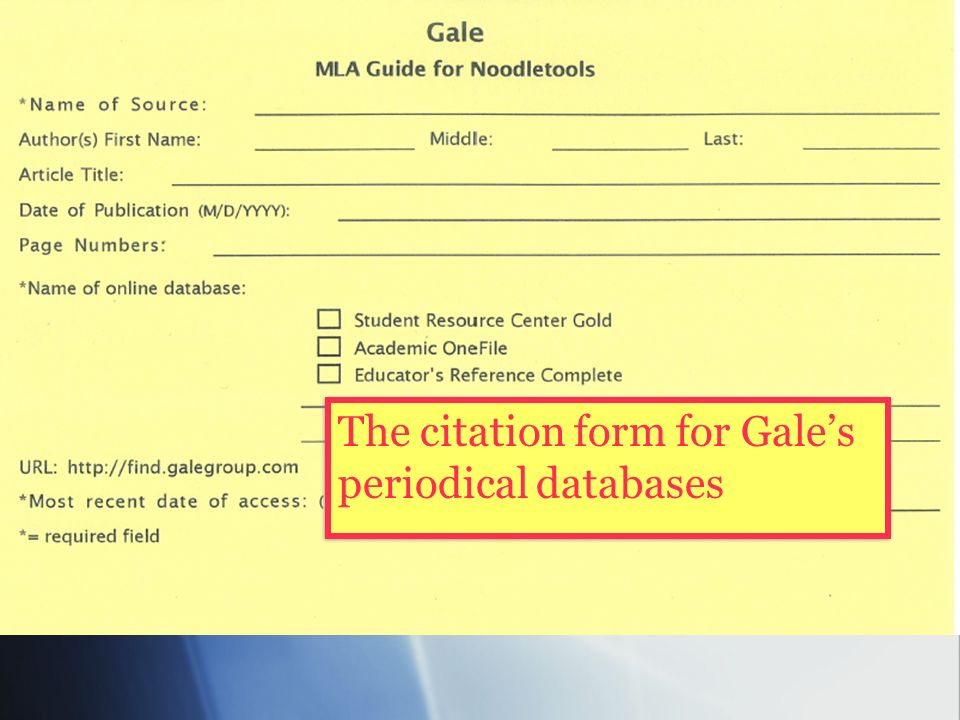use noodle tools to create a works cited page in mla style ppt