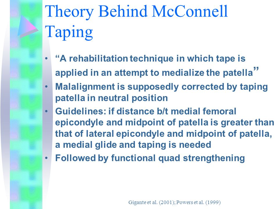 Literature Review Of The Efficacy Of Mcconnell Taping For