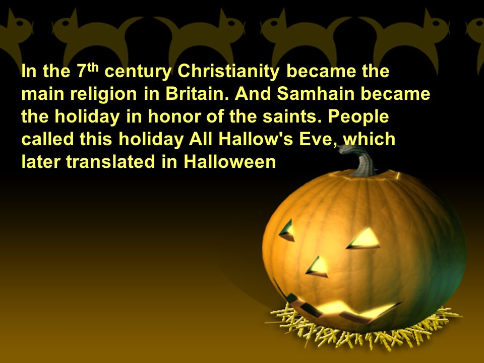 The history of the holiday of halloween