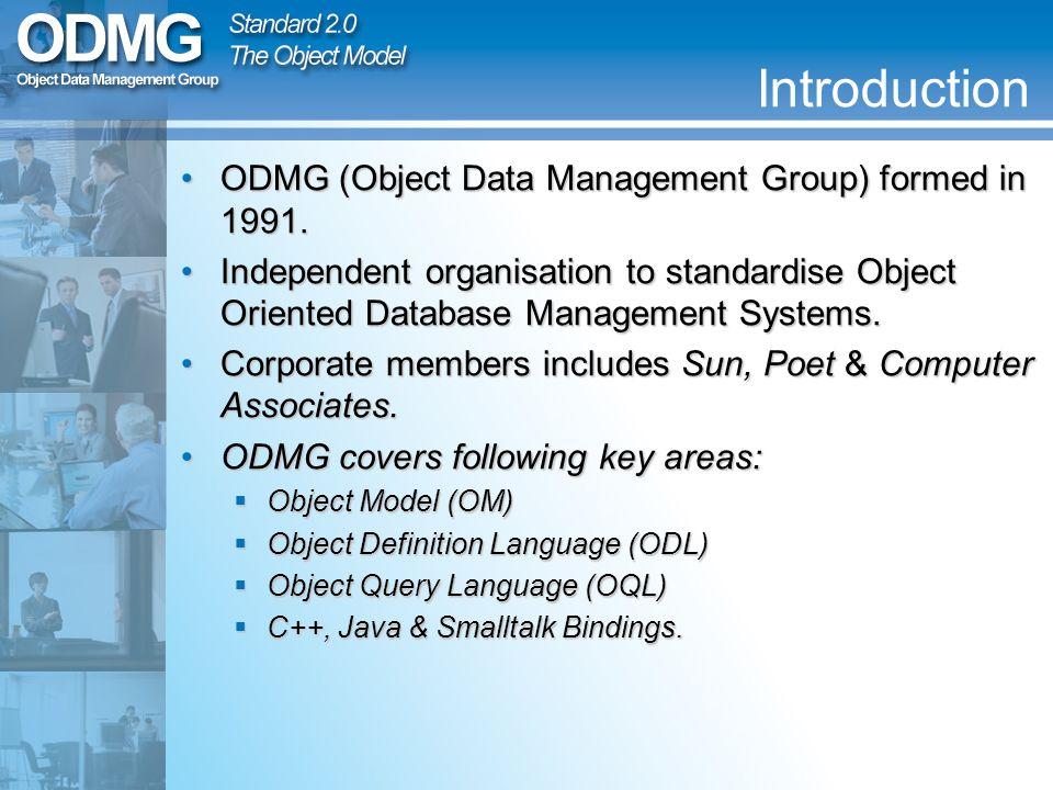 The ODMG Standard 2.0 Focusing...
