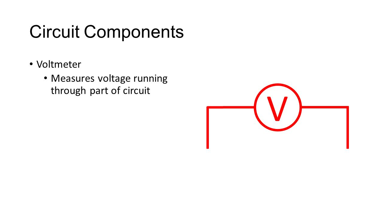 Parts Of An Electric Circuit Recall A Is Closed Path Diagram With Voltmeter 12 Components Measures Voltage Running Through Part V