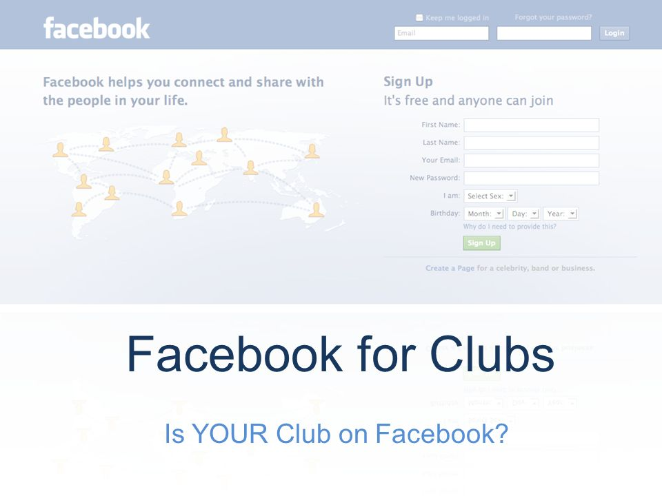 Is YOUR Club on Facebook? Facebook for Clubs  What Choices Do Clubs