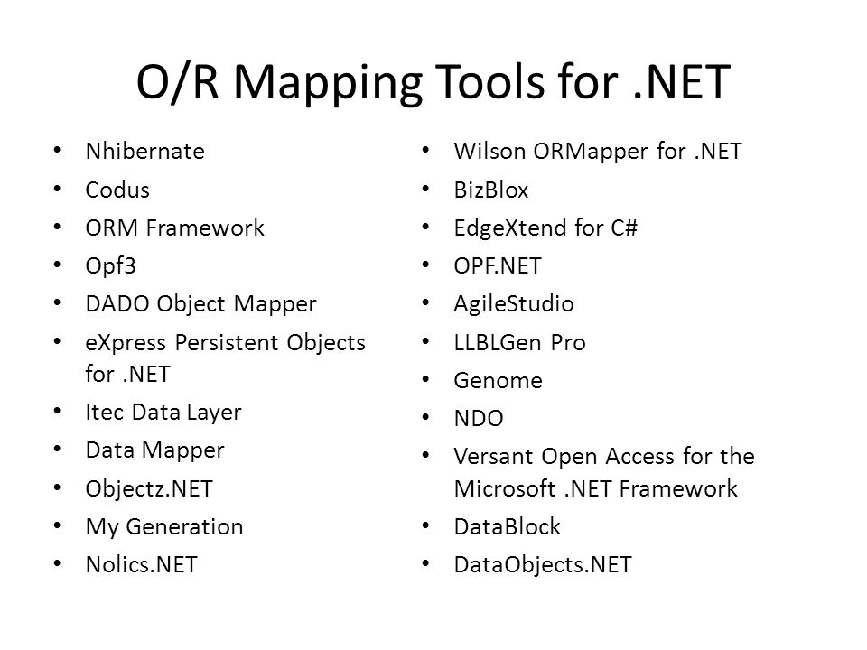 OR Mapping Object Relational Mapping ORM ORM And OR Mapping - Data mapper c