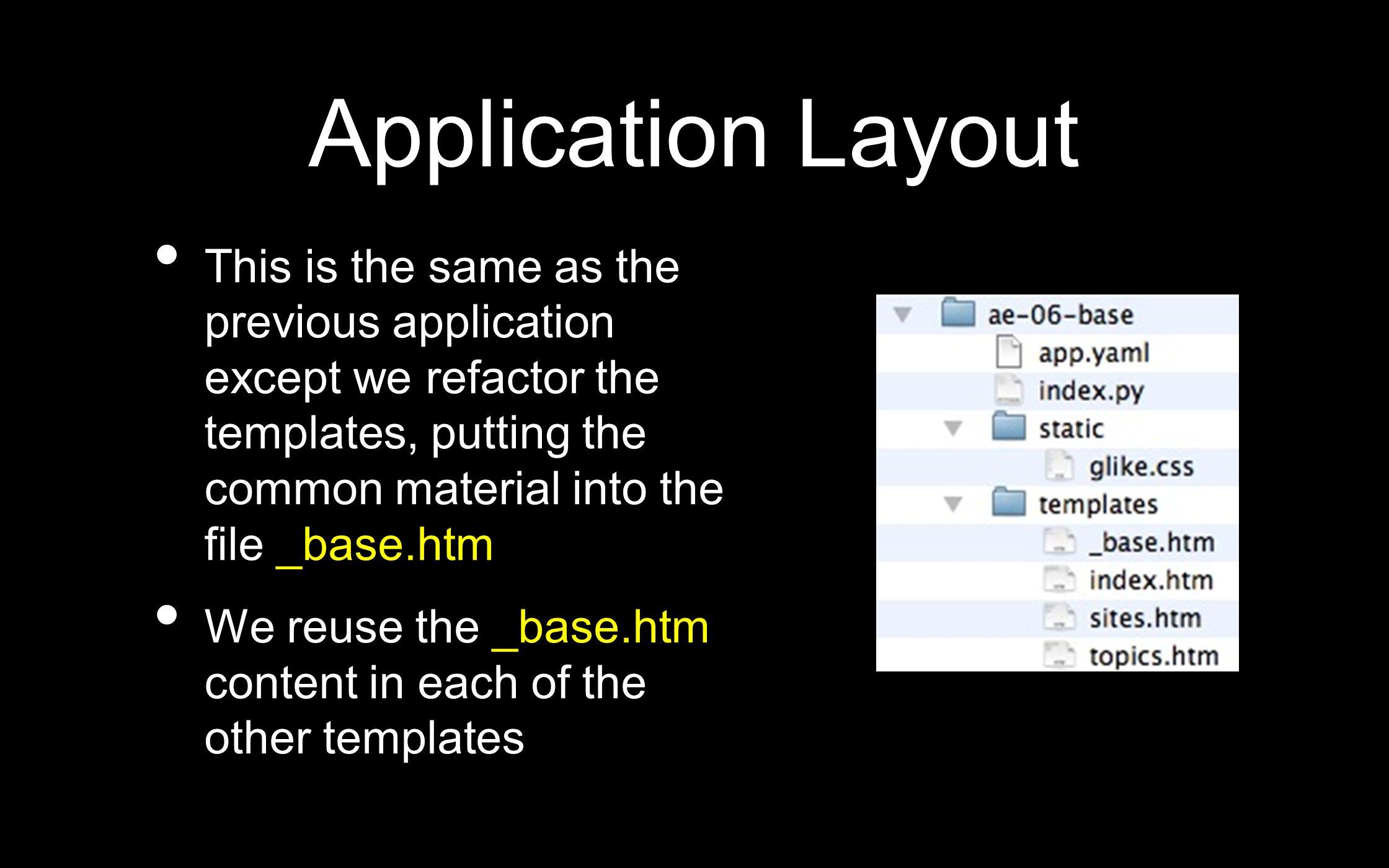 Google App Engine Using Templates Jim Eng Thanks to Chuck Severance ...