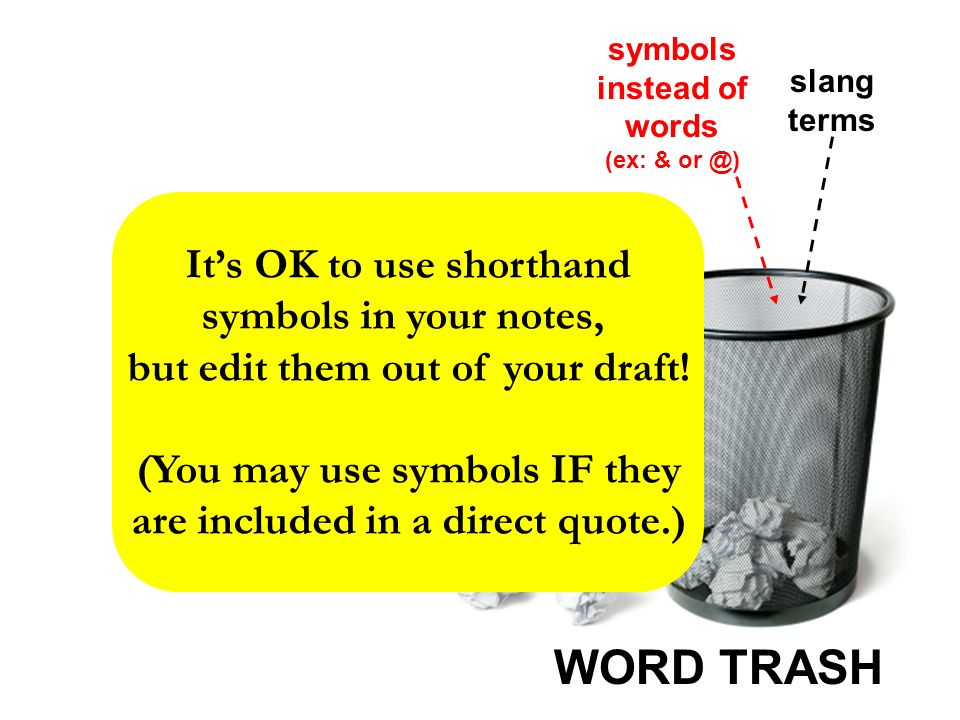 Word Trash Word Trash Words Phrases And Habits That Should Not