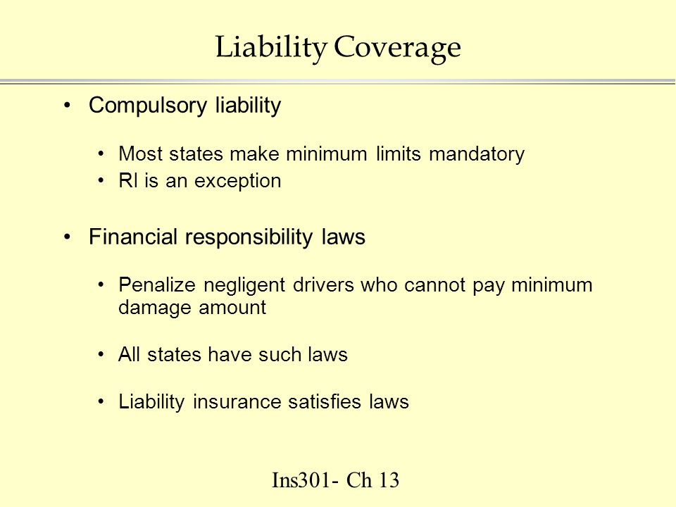 Ins301 Ch 13 Auto Insurance Third Party Liability First Party