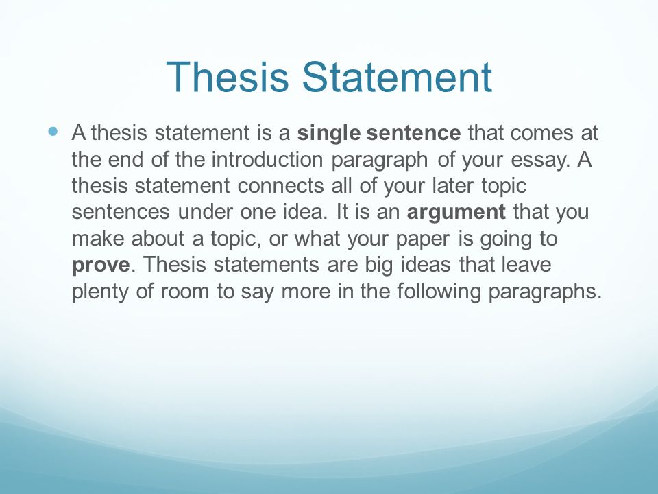 thesis statement sentence starters What is a thesis statement one of the main reasons students struggle with their thesis statements is a lack of technical understandingit is hard to grasp their head around the fact the thesis is single-handedly the most important sentence in entire text.