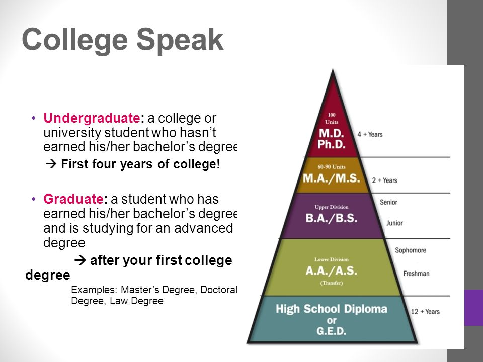 Types Of Colleges Degrees Agenda Review Degree Undergrad