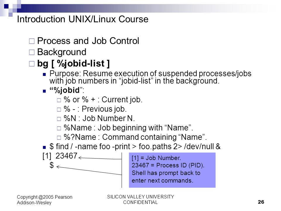 SILICON VALLEY UNIVERSITY CONFIDENTIAL 1 Introduction to UNIX ...
