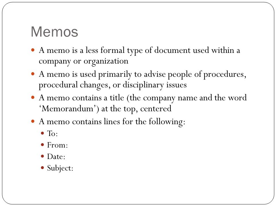 Writing and Speaking for Engineers-Honors Basics of Memos