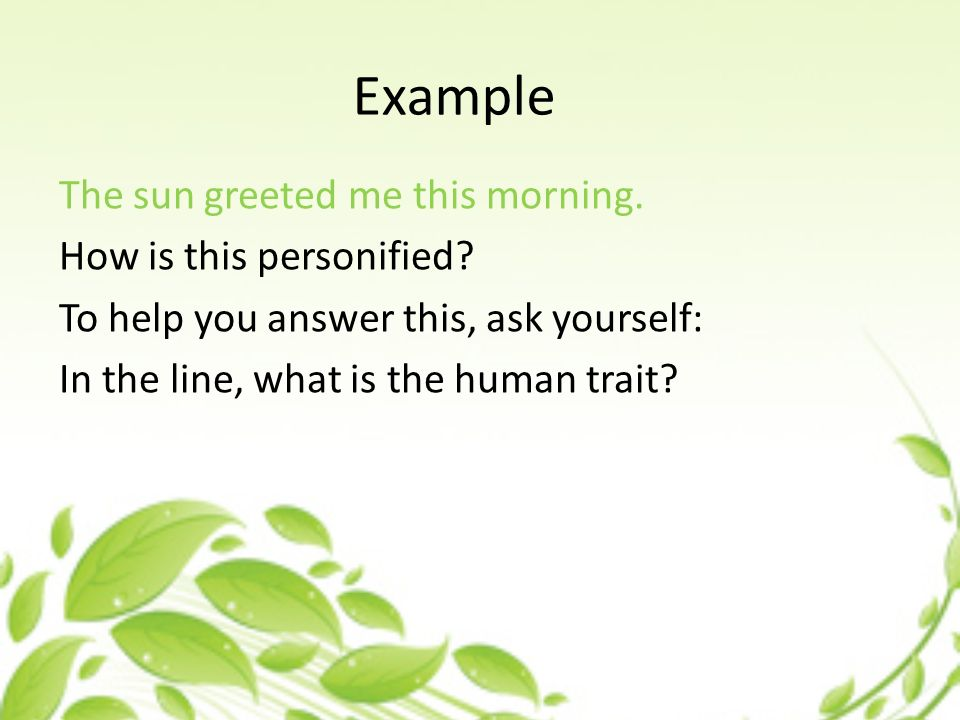 Poetry Personification What Is Personification Personification Is