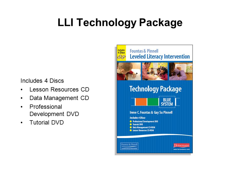 LLI Technology Package Includes 4 Discs Lesson Resources CD
