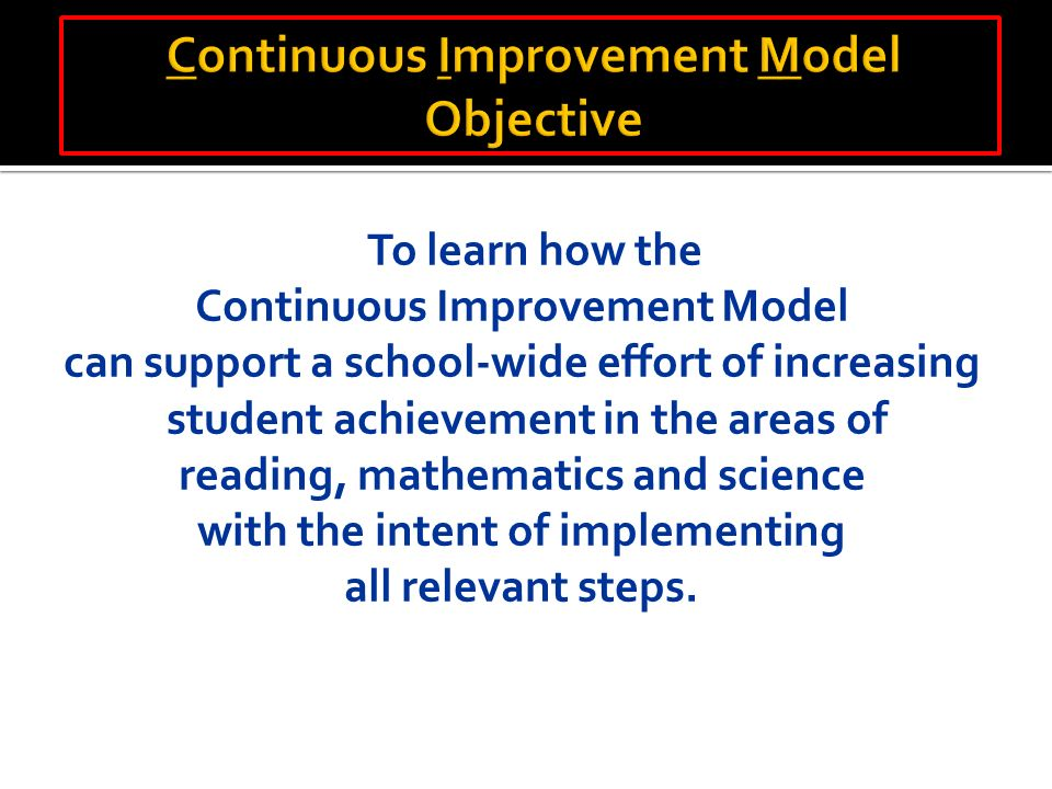 Focusing on Student Achievement The School District of ...