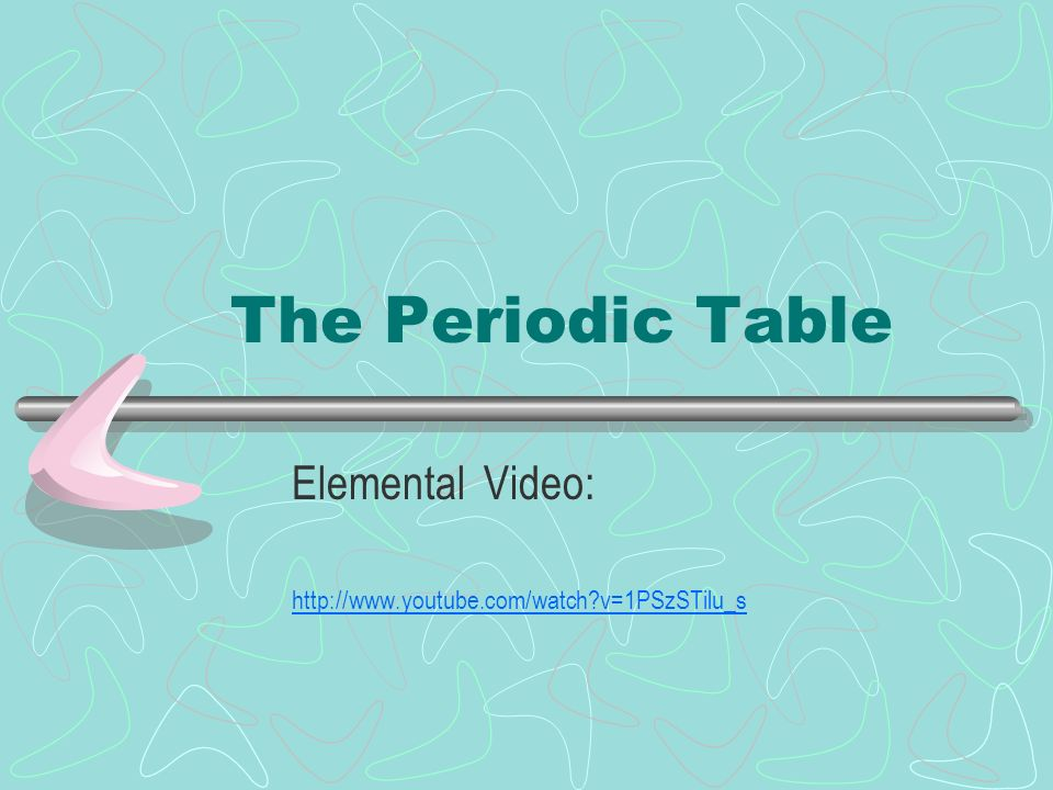 The periodic table elemental video ppt download 1 the periodic table elemental video urtaz Choice Image
