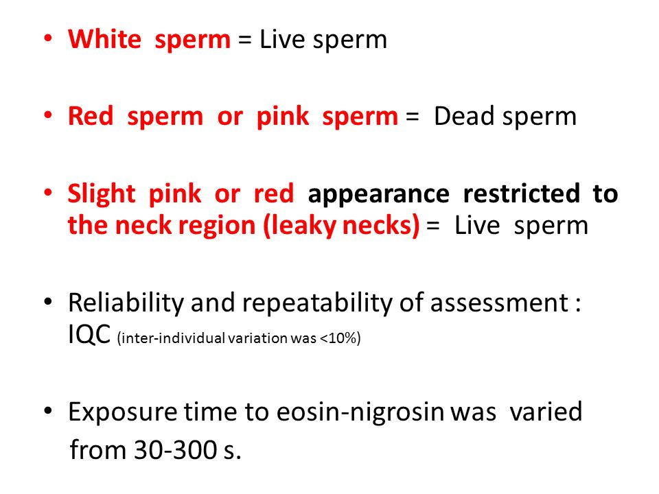 Scandal! Red in sperm speaking, opinion