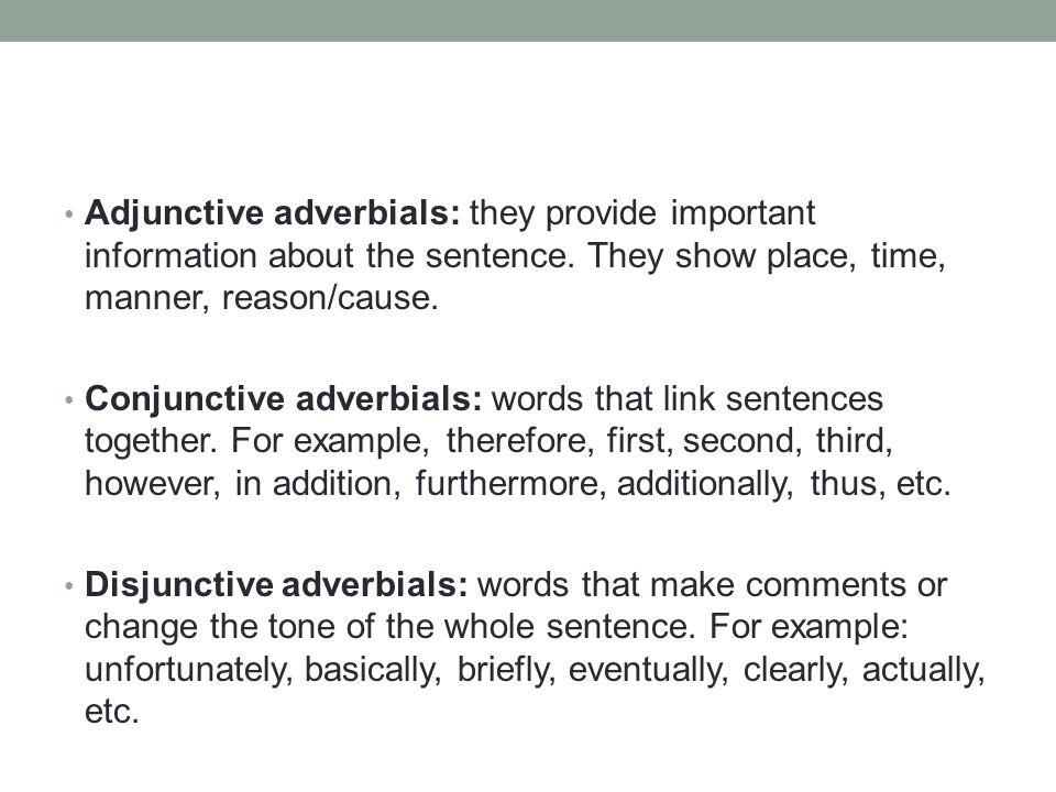 words that link sentences together