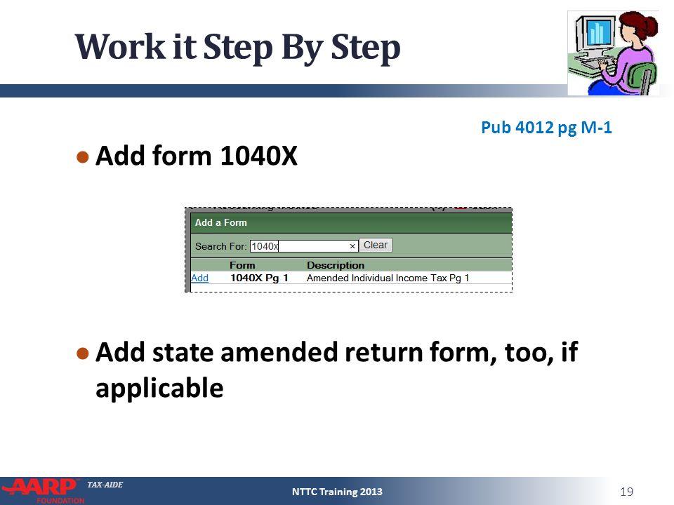 Tax Aide Amended Returns Prior Year Returns Pub 4012tab M Pub