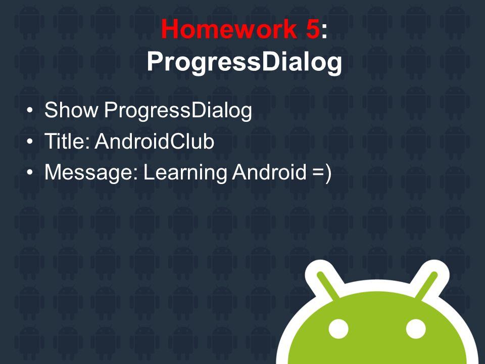 User notification Android Club Agenda Toast Custom Toast