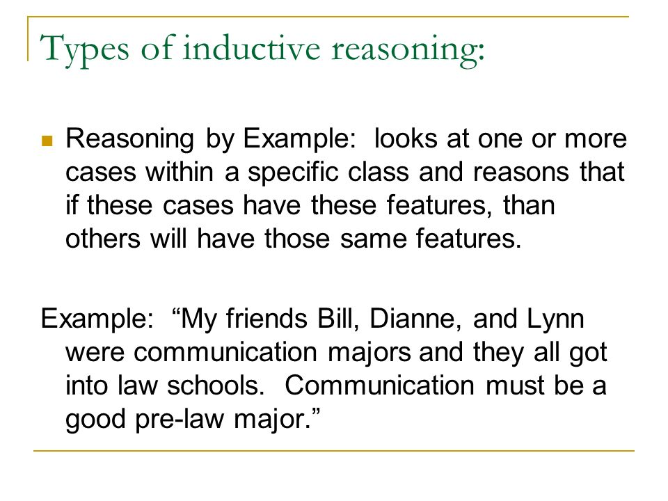 Reasoning Inductive And Deductive Reasoning Inductive Reasoning Is