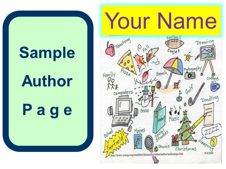 Sample Author P a g e Your Name