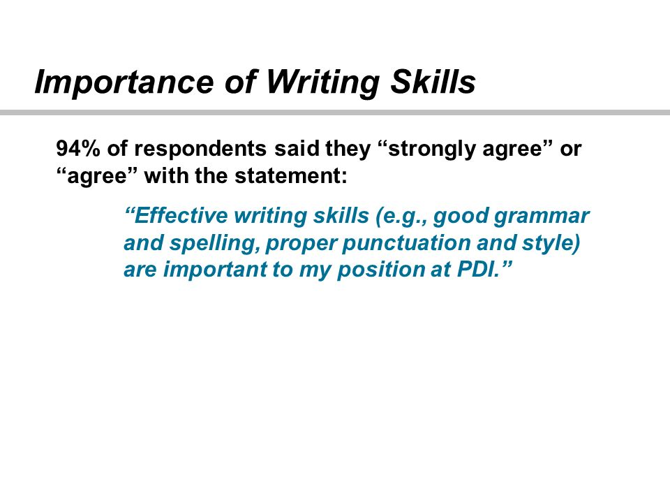 importance of writing skills in the workplace