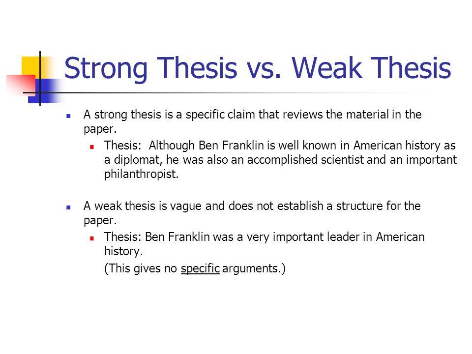 claim vs thesis