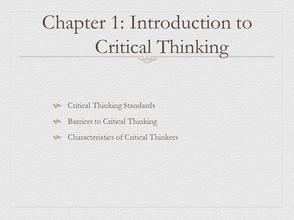 critical thinking course description