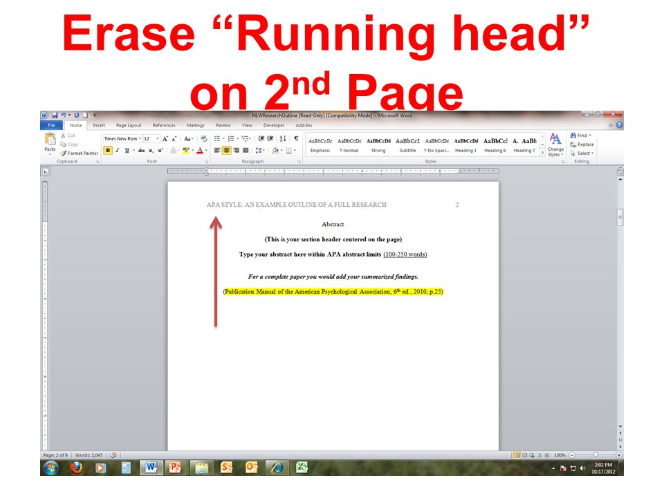Apa Format Running Head Example Choice Image Example Cover Letter