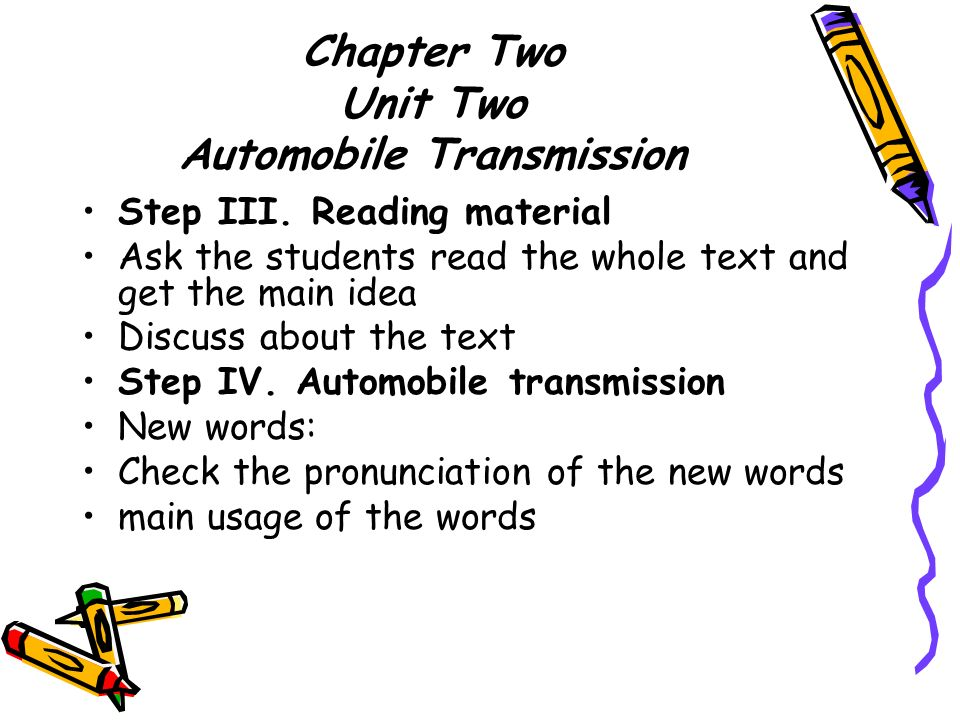 Automobile Transmission  Chapter Two Unit Two Automobile