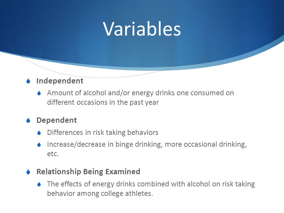 Why Risk Taking Behavior Increases >> Athletes And Energy Drinks Reported Risk Taking And Consequences