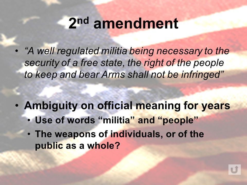 history of the second amendment