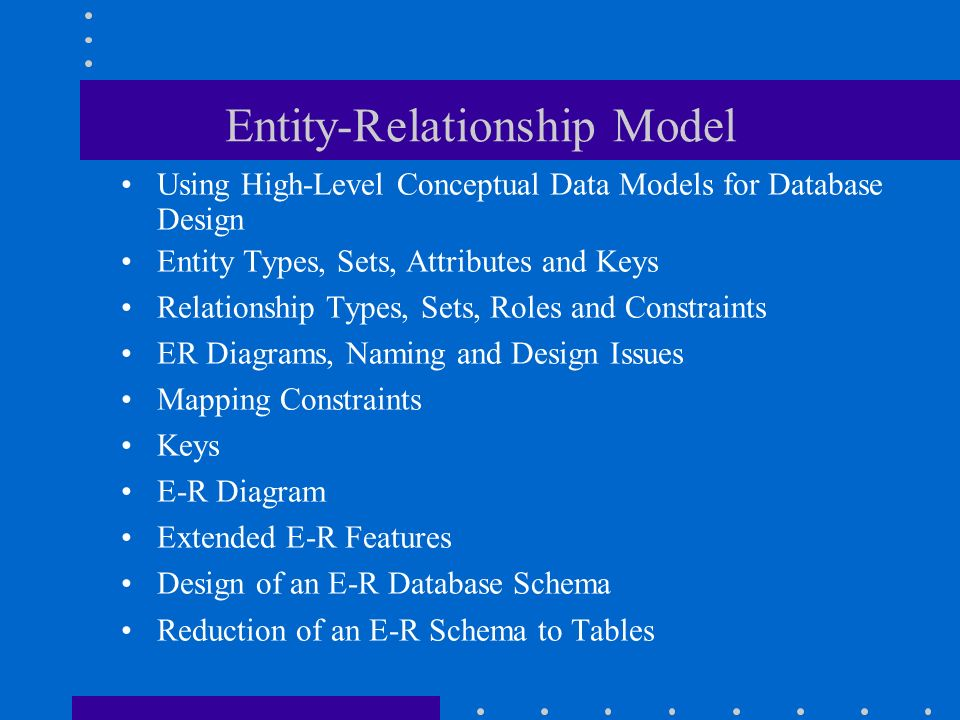 a conceptual and relational data model Ix contents preface xv chapter 1 introduction 1 11 data and database management 2 12 the database life cycle 3 13 conceptual data modeling 8 14 summary 11.
