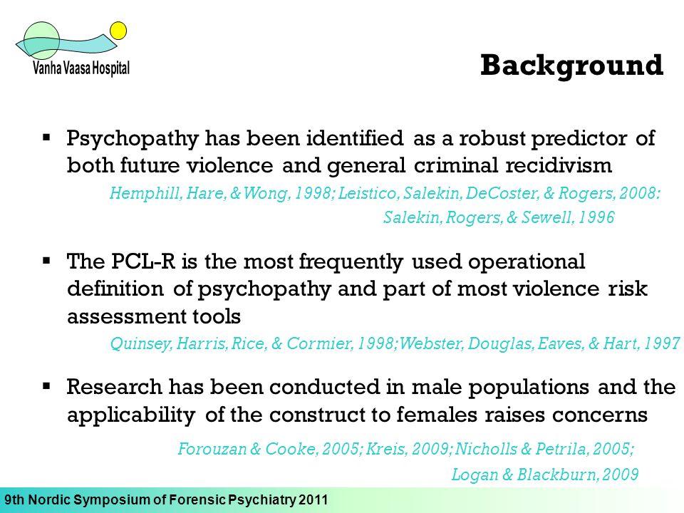 operational definition of recidivism