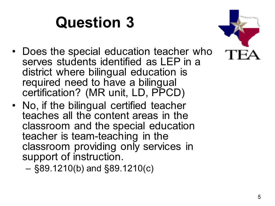 1 Bilingualesl Required Services For Students With Disabilities