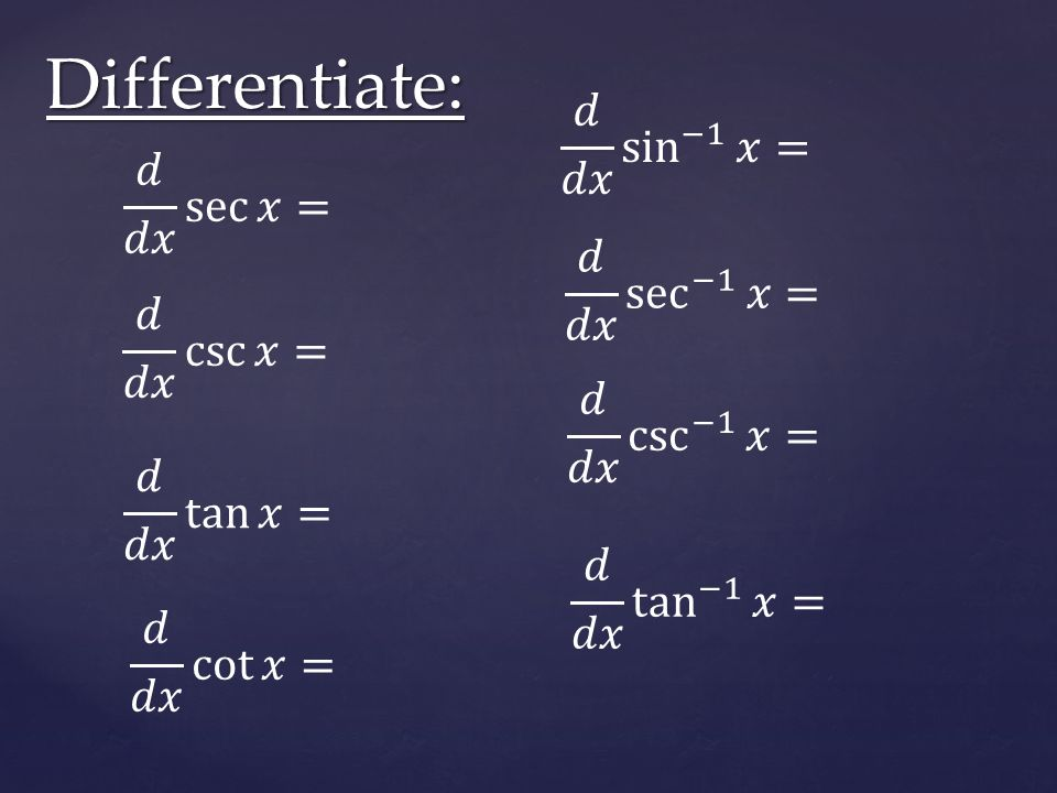 Chapter 4 Practice AP Calculus  Differentiate: - ppt download
