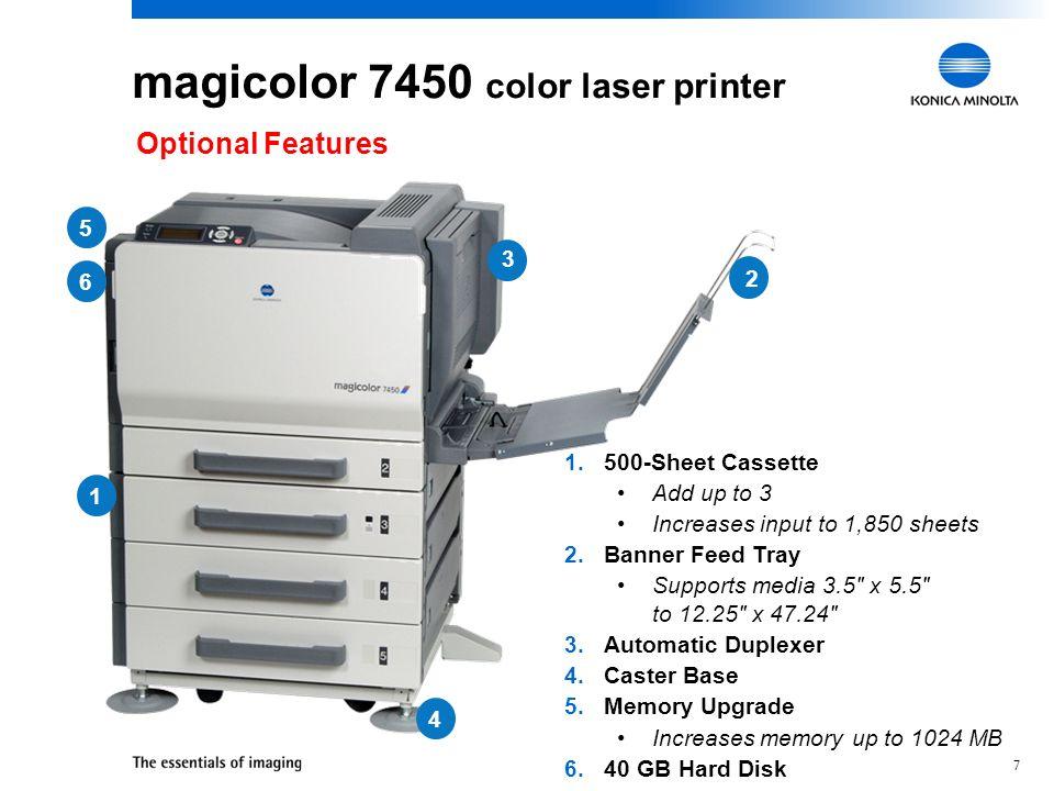 Konica Minolta magicolor 7450 II grafx Printer PCL Windows 8 X64 Treiber