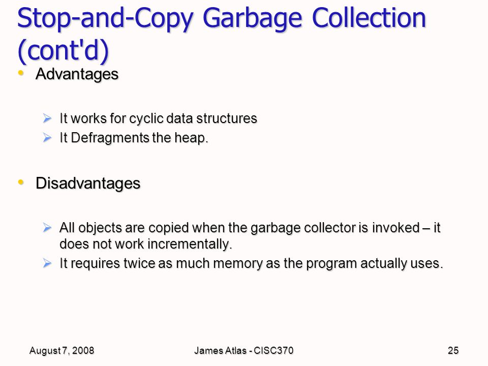 garbage collection in data structure