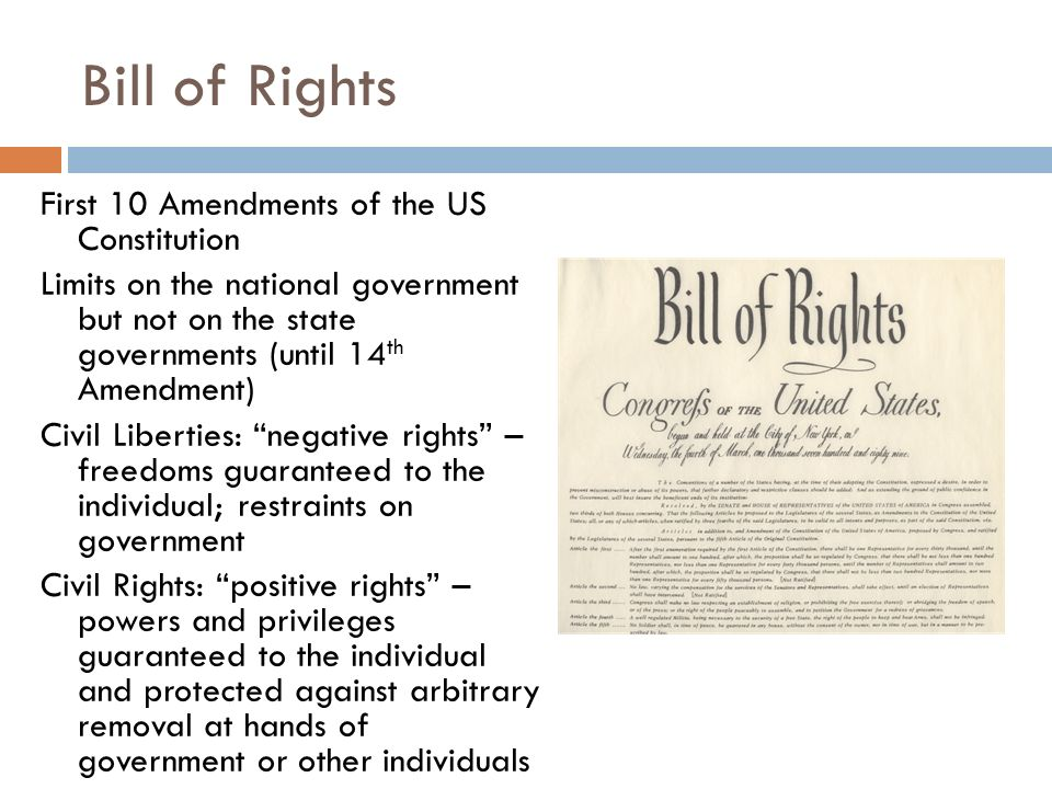 bill of rights first ten amendments