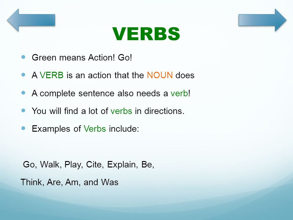 Parts Of Speech 1 Nouns Verbs Adjectives By Terri Coleson Ppt
