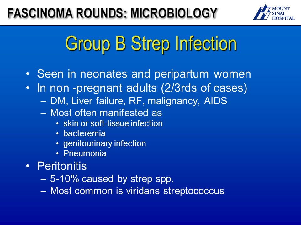 Group b stret infection in nonpregnant adult