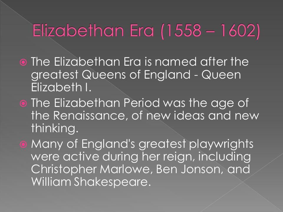 elizabethan era shakespeare