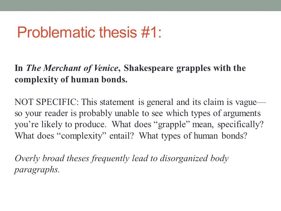 thesis for the merchant of venice