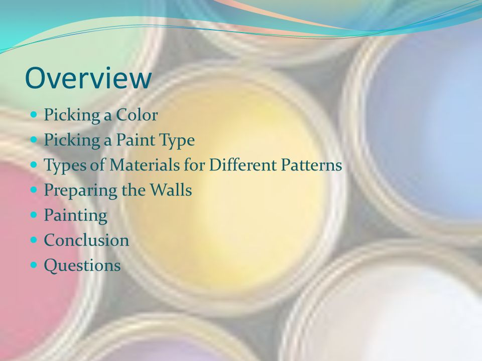 wall painting types faux overview picking color paint type types of materials for different patterns preparing the walls painting conclusion questions kristin cook