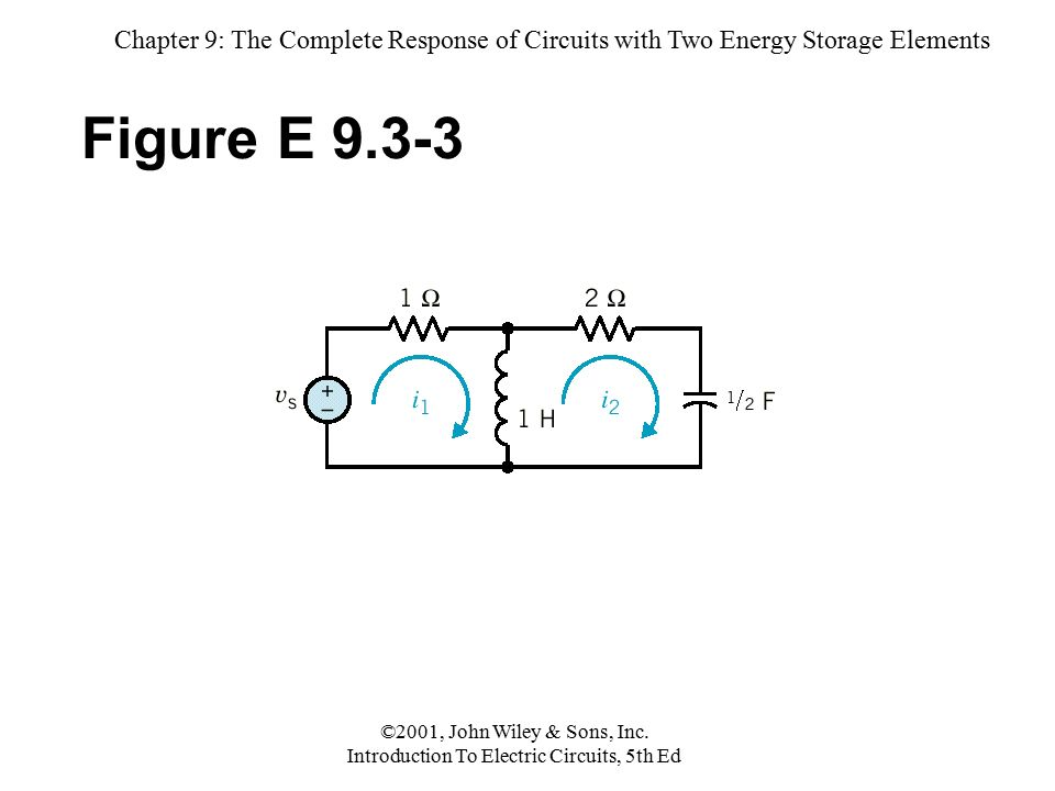 chapter 9 the complete response of circuits with two energy storagechapter 9 the complete response of circuits with two energy storage elements ©2001,