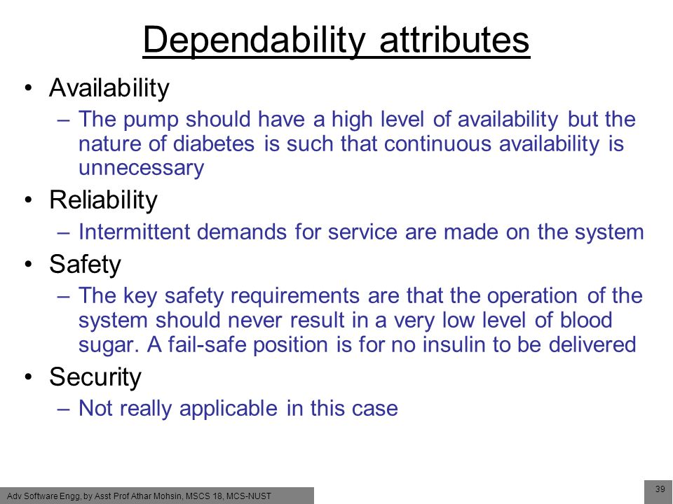 Dependable Software Development Lecture 7  System dependability For